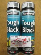 Simoniz spray paint tough black satin 500ml
